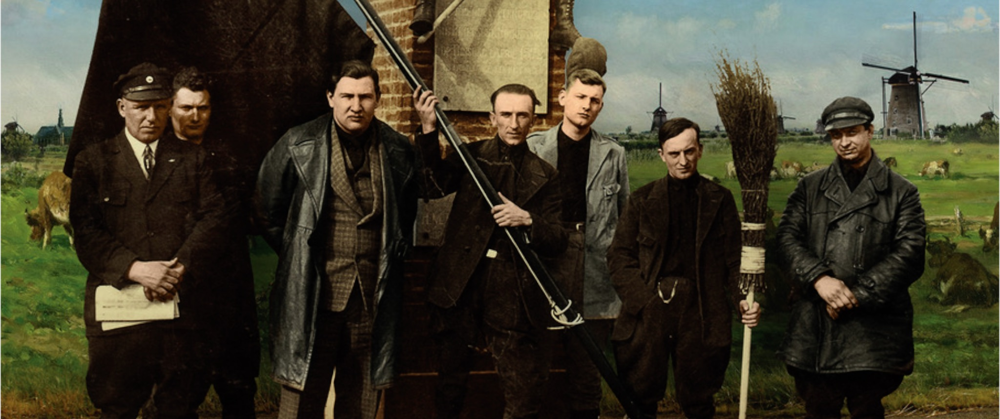 Dutch scenery, landscape, Fascism, Jan Baars, Haighton, zwarthemden, blackshirts, Algemene Nederlandse Fascisten Bond, General Dutch Fascist Association, De Bezem, The Broom, populism, collector