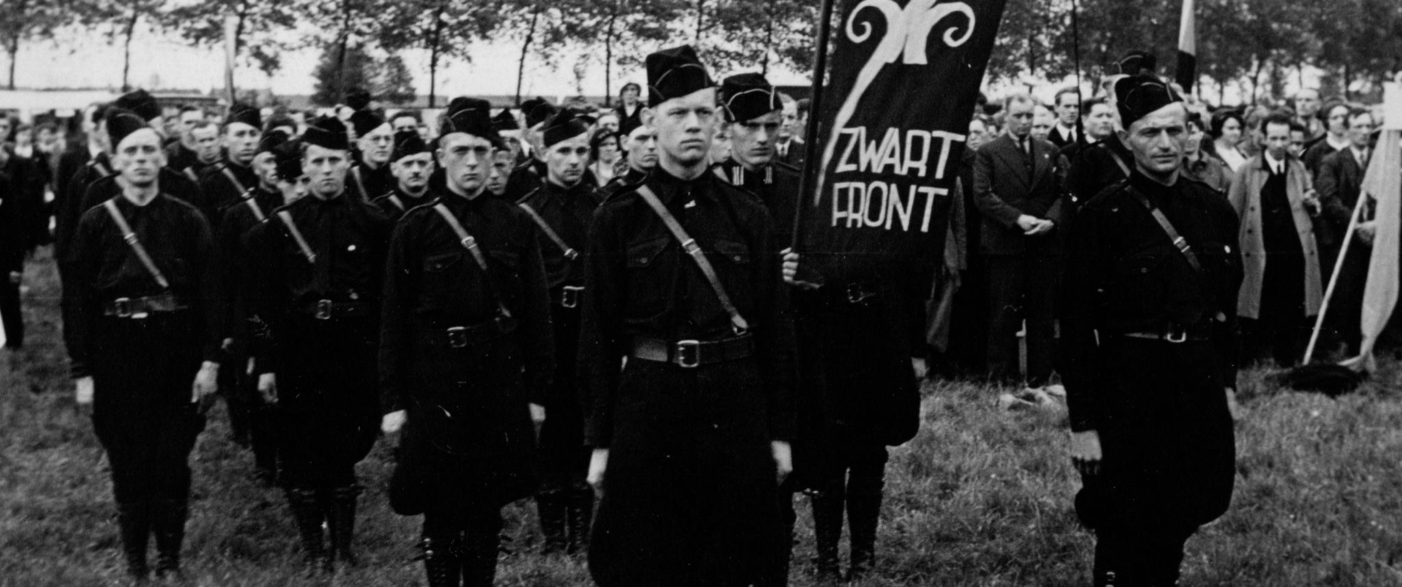 Fascism, Arnold Meijer, Zwart Front, Black front, Black Stormers, black shirts, Brabant, Oisterwijk, day of the country, weerkorps, militia, violence, politics, history