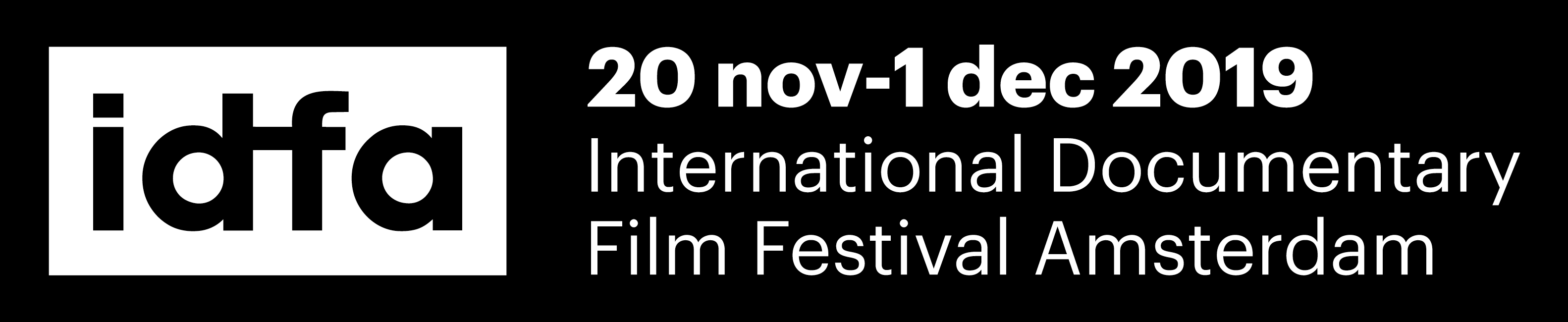 IDFA 20 november - 1 december 2019 International Documentary Film Festival Amsterdam